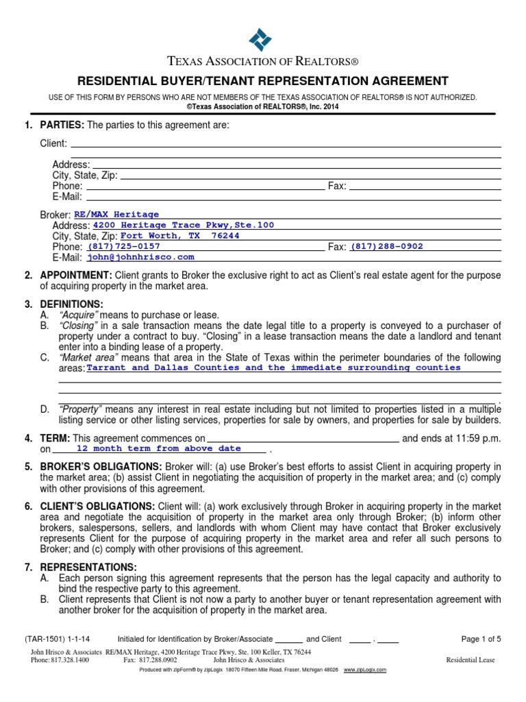 Buyer/tenant representation agreement | triple crown real estate group.