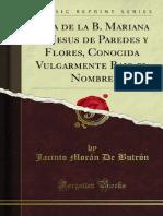 Vida de La B Mariana de Jesus de Paredes y Flores Conocida Vulgarmente 1400020261 (1)