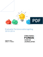 Evaluatie Persinnovatieregeling