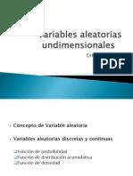 4 Variables Aleatorias Undimensionales