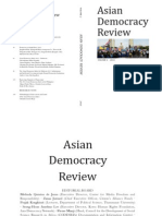 Asian Democracy Review Volume 2 (2013)