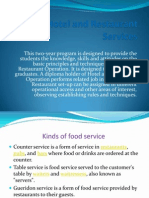 Hotel and Restaurant Services
