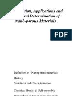 Nanoporous Materials