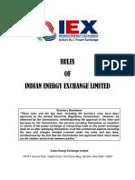 IEX Rules Dated 01.08.2011