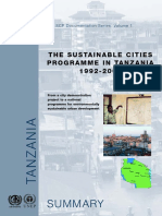 The Sustainable Cities Programme in Tanzania 1992-2003