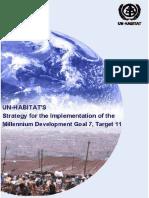 UN-HABITAT's Strategy for the Implementation of the Millennium Development Goal 7 Target 11