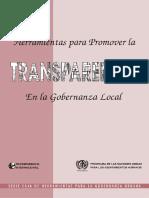 Herramientas Para Promover La Transparencia en La Gobernanza Local