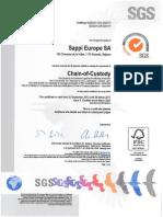 FSC Certificate Chain of Custody - Valid Until 28-3-2017