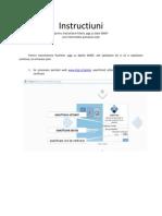Instructiuni Utilizare Portal