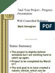 Final Year Project - Progress Presentation