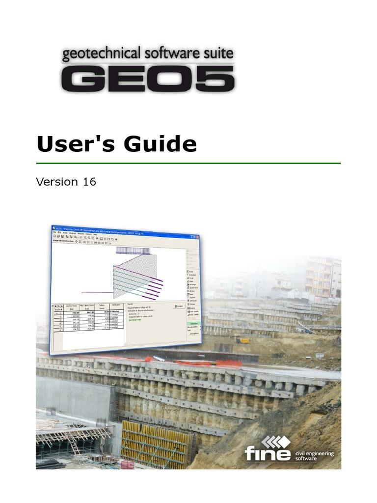GEO5 v16 Software Manual by Civilax com | Deep Foundation | Civil