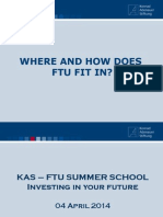 FTU - KAS Summer School Structure
