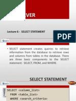 SQL - Select