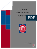 UM ABAP Development Standards