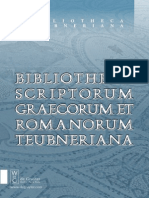 Bibliotheca Scriptorum Graecorum Et Latinorum Teubneriana