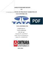 Summer-Training-Project-Report on Tata Motora