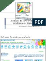 Avaliação de Software Educativo Para Ensino de Língua