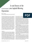 Air Emissions-Asphalt Blowing