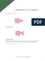 3.ILEPHYSIQUE Physique Terminale Modele Ondulatoire Lumiere