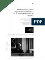 A Constituição Do Perito Psicólogo Em Varas de Família à Luz Da Análise Institucional de Discurso