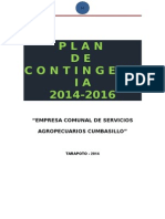 Plan de Contingencia -2014 -2016 Iestp-nor Oriente La de La Selva