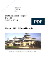 Handbook Mathematical Tripos Part III