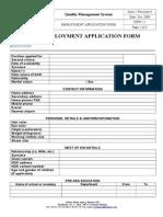 Rickmers Employment Application Form