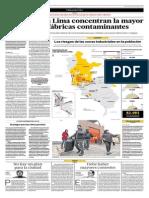 Seis Zonas en Lima Concentran La Mayor Cantidad de Fábricas Contaminantes