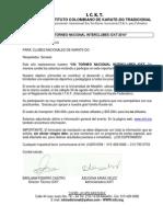 Carta Invitacion Torneo Ickt - 2014