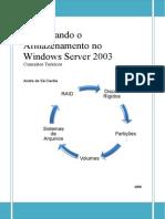 Gerenciando o Armazenamento No Windows Server 2003