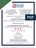 Reception for Elise Stefanik