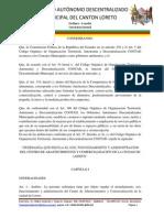 Ordenanza Que Regula El Uso Funcionamiento y Administracin Del Centro de Abastecimientos y Comercializacin de La Ciudad de Loreto