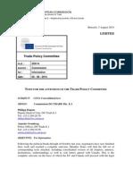 Ceta, sažetak EK o prekoatlantskim trgovinskim pregovorima