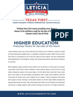 Texas First Higher Education Plan