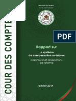 Cour des comptes - Rapport sur Le système de compensation au Maroc