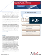 1.0 Develop Vision and Strategy Definitions and Key Measures PCF Version 6.0.0