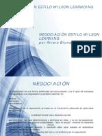Negociación Estilo Wilson Learning presentación por Alvaro Brunal