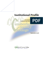 3.6 Sample Institutional Profile