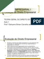 1 - Direito Comercial - Histórico
