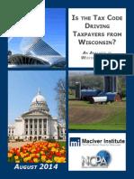 Wisconsin Tax Burden Analysis August, 2014