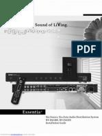 Nuvo Essentia Six Source, Six Zone Audio Distribution System manual