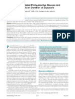 Nitrous Oxide Related Postoperative Nausea. JR2