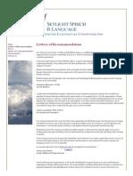 Letters of Recommendation - SkylightSpeech