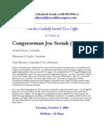 Coffee for Joe Sestak