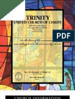 Trinity United Church of Christ Bulletin Aug 19 2007