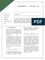 Practica Ecuaciones de Continuidad y de Bernoulli