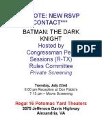 Private Screening of Batman
