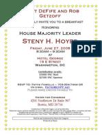 Breakfast for Steny Hoyer