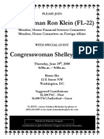 Fundraiser for Ron Klein