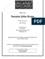 Fundraiser for John Kerry